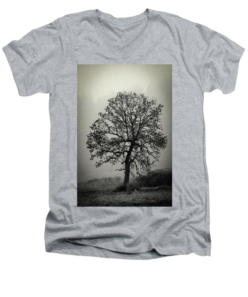 Men's V-Neck T-Shirt featuring the photograph Age Old Tree by Steve McKinzie