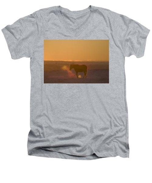 Alberta, Canada Horse At Sunset Men's V-Neck T-Shirt