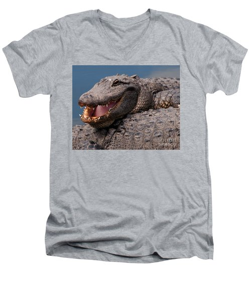 Alligator Smile Men's V-Neck T-Shirt