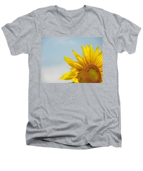 Almost Noon Men's V-Neck T-Shirt by Lenore Senior