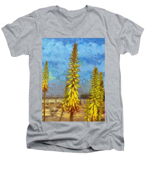 Aloe Vera Flowers Men's V-Neck T-Shirt