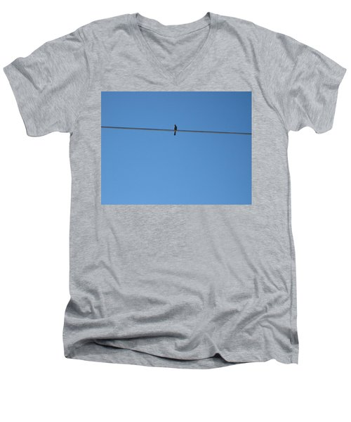 Men's V-Neck T-Shirt featuring the photograph Alone At Last by Kume Bryant