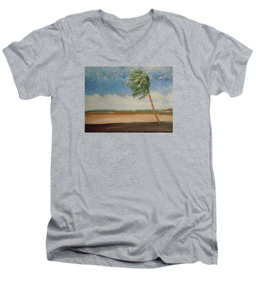 Alone In Paradise  Men's V-Neck T-Shirt by Dan Whittemore