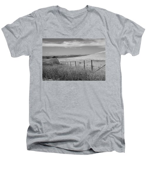 Men's V-Neck T-Shirt featuring the photograph Along The Line by Kathleen Grace
