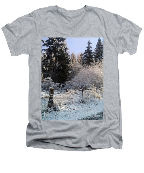 Along The Way Men's V-Neck T-Shirt by Rory Sagner