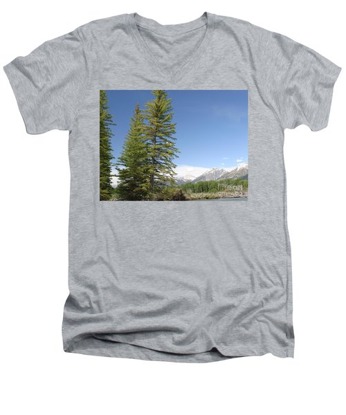 Men's V-Neck T-Shirt featuring the photograph America The Beautiful by Living Color Photography Lorraine Lynch