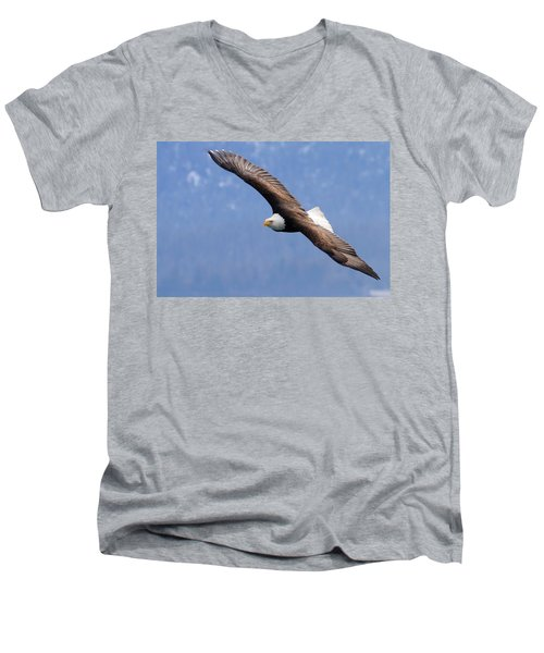 Men's V-Neck T-Shirt featuring the photograph American Bald Eagle by Doug Lloyd