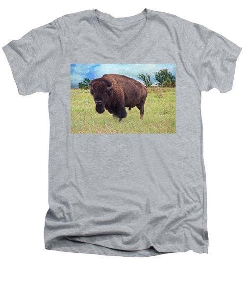 American Bison Men's V-Neck T-Shirt