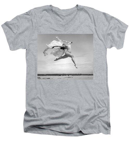 An Exuberant Dance To Spring Men's V-Neck T-Shirt