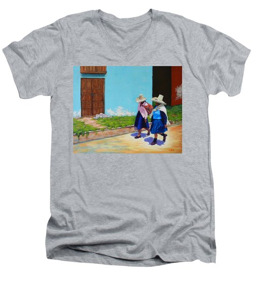 Andean Ladies Men's V-Neck T-Shirt