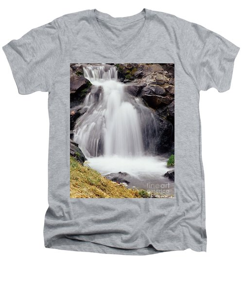 Men's V-Neck T-Shirt featuring the photograph Angel Hair by Sharon Elliott