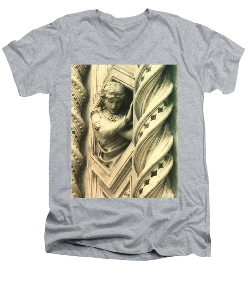 Angel Of The Basilica Men's V-Neck T-Shirt