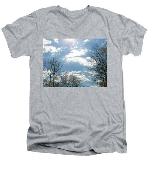Men's V-Neck T-Shirt featuring the photograph Angels On High by Pamela Hyde Wilson