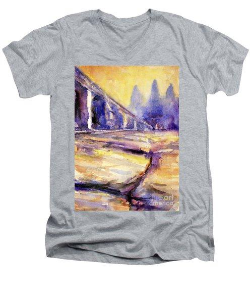 Angkor Wat Sunrise 3 Men's V-Neck T-Shirt