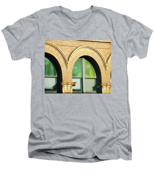 Men's V-Neck T-Shirt featuring the photograph Architecture Memphis by Lizi Beard-Ward