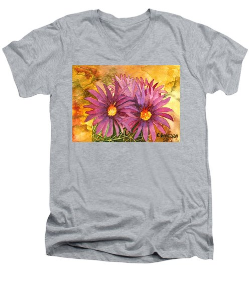 Arizona Pincushion  Men's V-Neck T-Shirt by Eric Samuelson