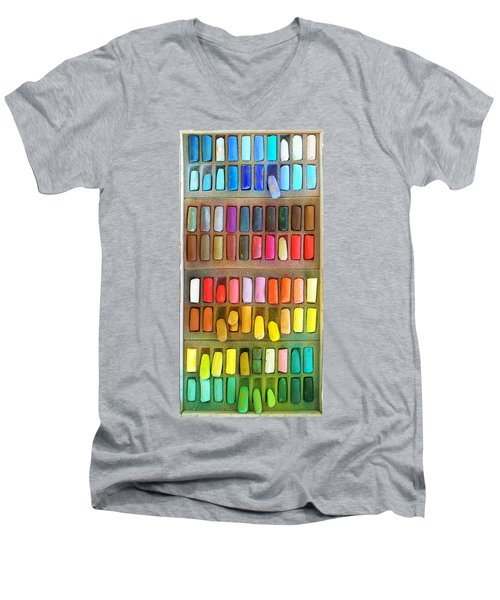 Artists Rainbow Men's V-Neck T-Shirt