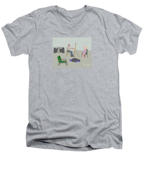 Artists Studio Men's V-Neck T-Shirt