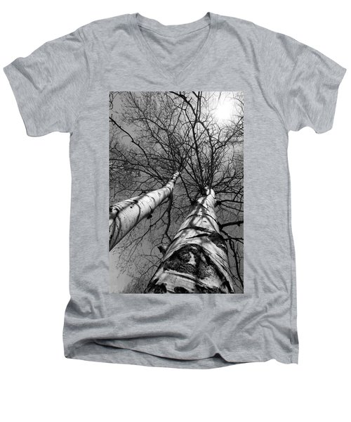 Men's V-Neck T-Shirt featuring the photograph Aspen Glow by Colleen Coccia