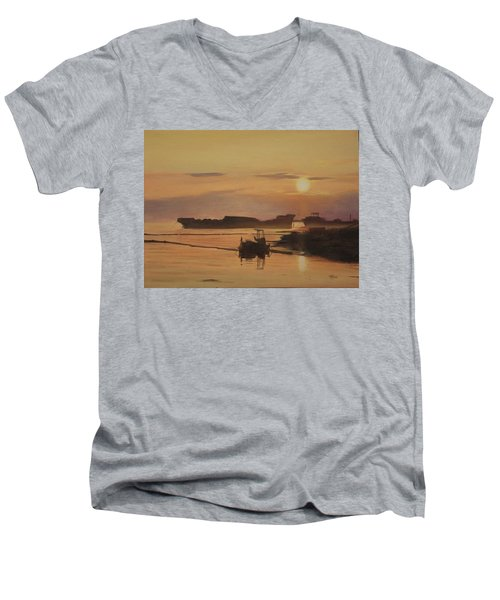 At The End Of It's Day Men's V-Neck T-Shirt