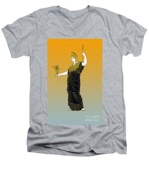 Athena, Greek Goddess Men's V-Neck T-Shirt by Photo Researchers