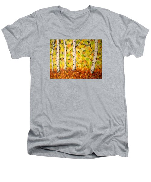 Autumn Aspens Men's V-Neck T-Shirt