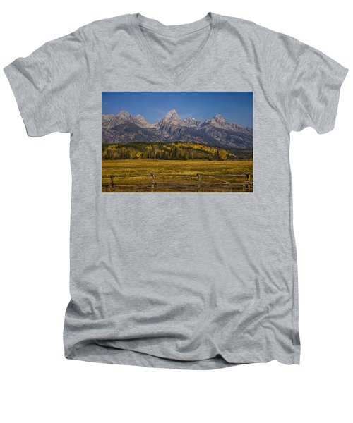 Autumn In The Tetons Men's V-Neck T-Shirt