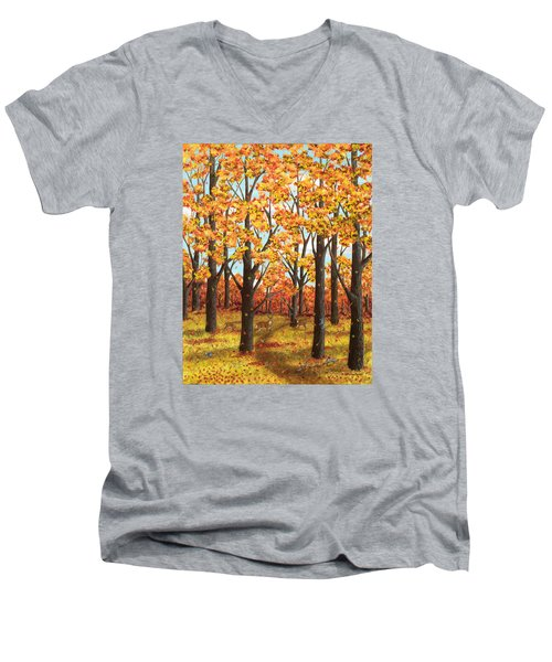 Autumn Meadow Men's V-Neck T-Shirt