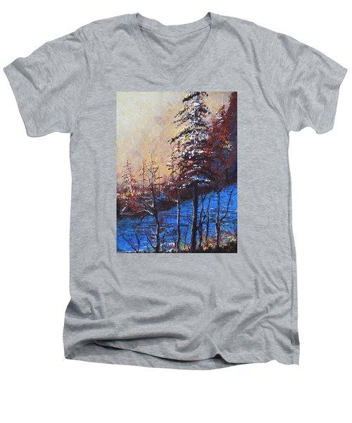 Autumn Silence Men's V-Neck T-Shirt by Dan Whittemore