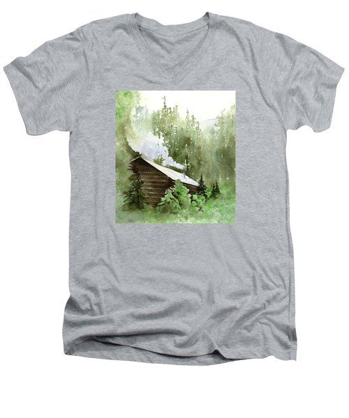 Backcountry Morning Men's V-Neck T-Shirt