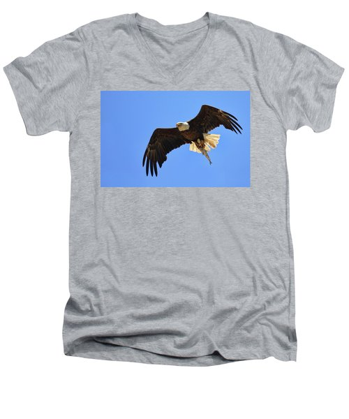 Bald Eagle Catch Men's V-Neck T-Shirt