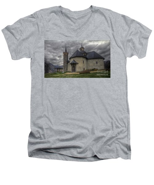 Baroque Church In Savoire France 6 Men's V-Neck T-Shirt by Clare Bambers