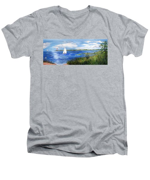Bayville Marsh Men's V-Neck T-Shirt
