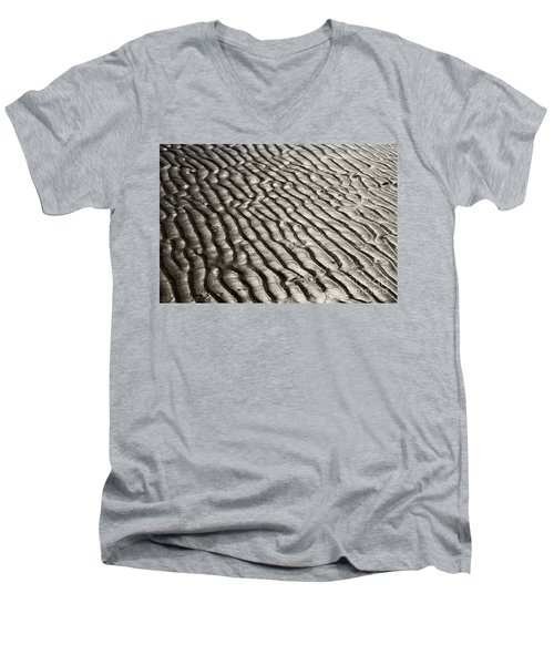 Men's V-Neck T-Shirt featuring the photograph Beach Sands by Fotosas Photography
