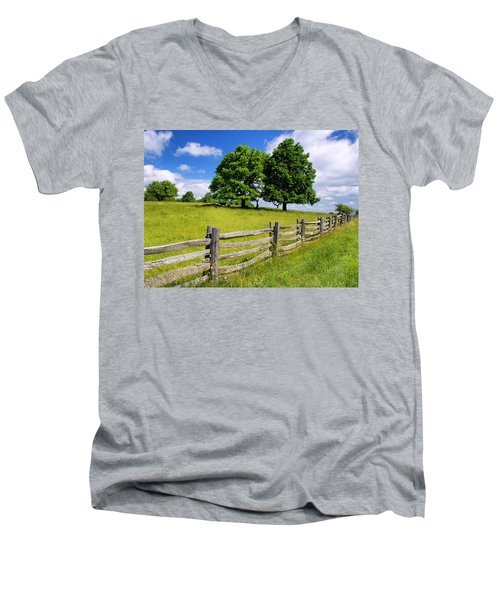 Beautiful Virginia Pasture Men's V-Neck T-Shirt