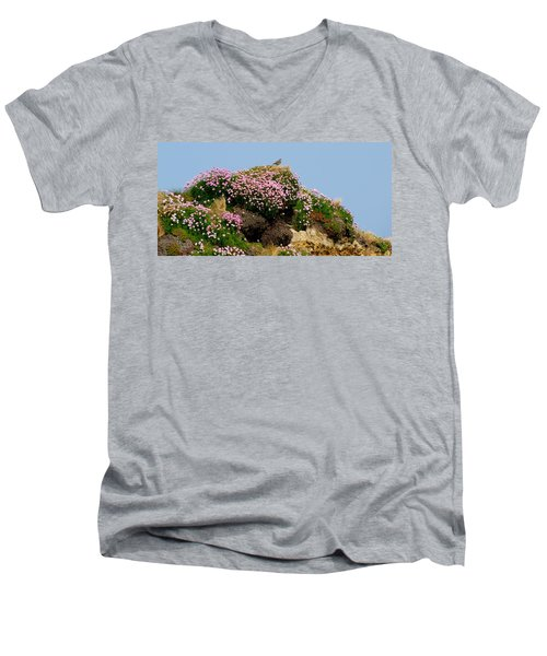 Men's V-Neck T-Shirt featuring the photograph Beauty by Barbara Walsh