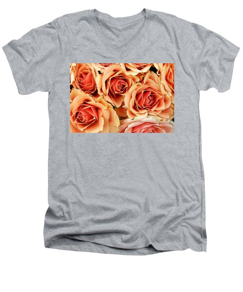 Bergen Roses Men's V-Neck T-Shirt