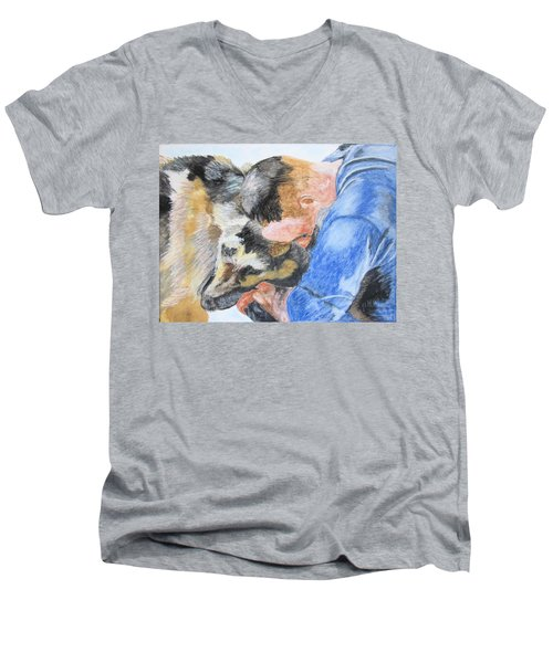 Best Friends - Oil Pastels Study Men's V-Neck T-Shirt