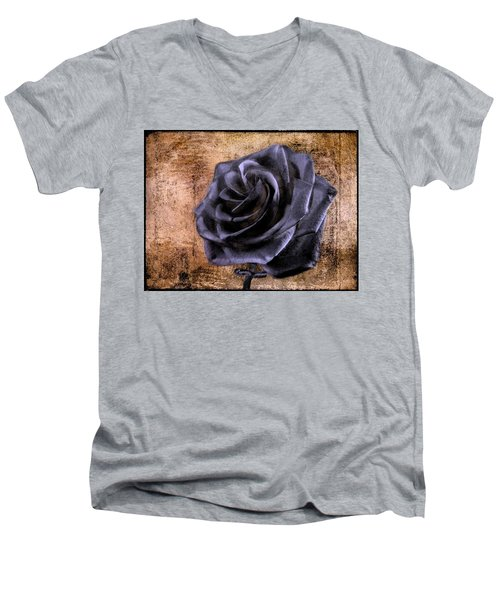 Black Rose Eternal   Men's V-Neck T-Shirt