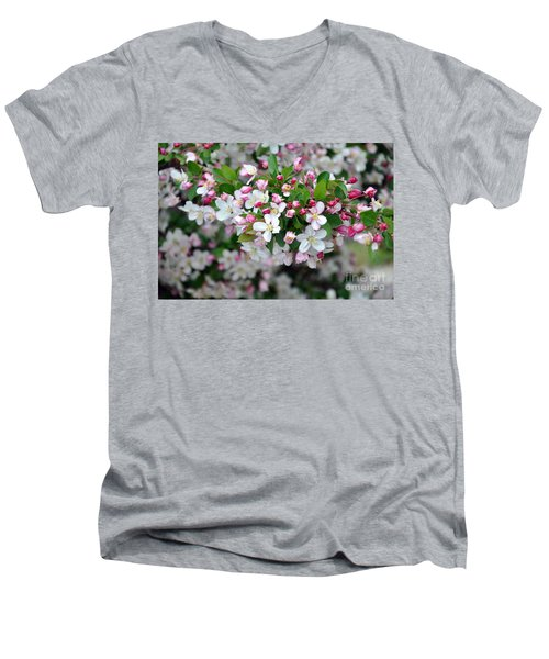 Blossoms On Blossoms Men's V-Neck T-Shirt