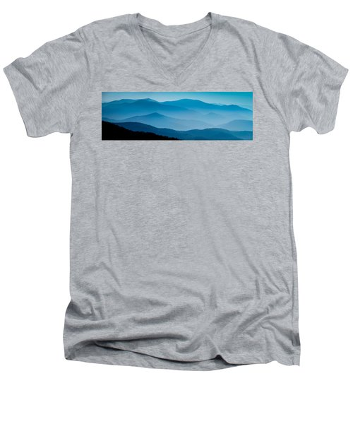 Blue Ridges Panoramic Men's V-Neck T-Shirt