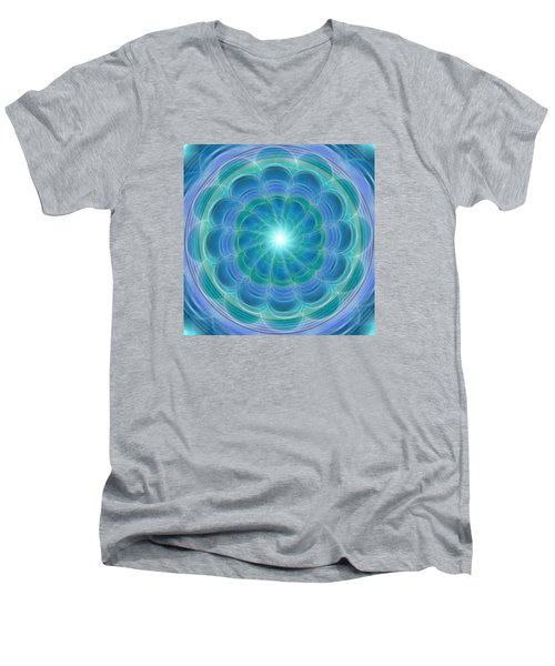 Bluefloraspin Men's V-Neck T-Shirt
