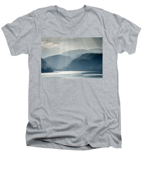 Breaking Through The Mist Men's V-Neck T-Shirt