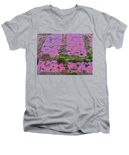 Men's V-Neck T-Shirt featuring the photograph Brick Wall by Bill Owen