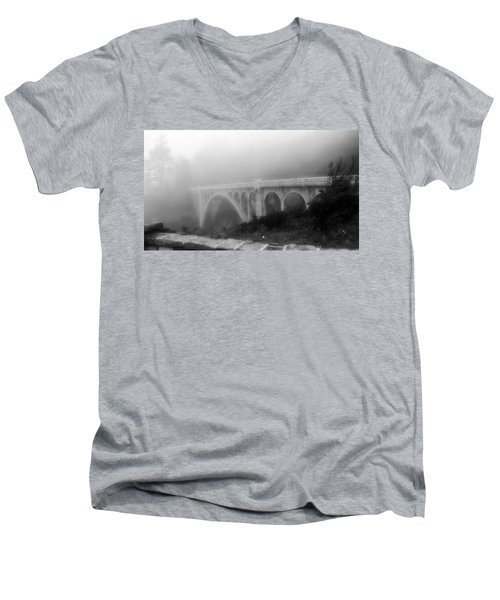 Bridge In Fog Men's V-Neck T-Shirt