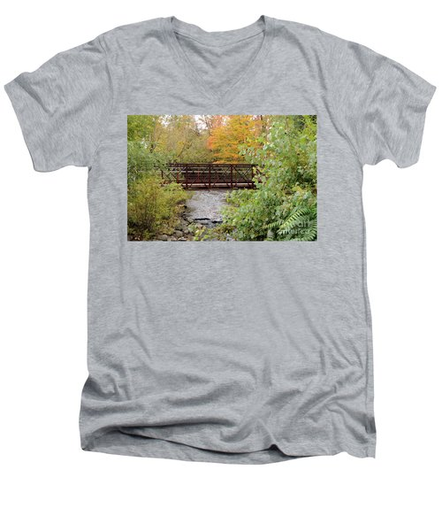 Bridge Over River Men's V-Neck T-Shirt