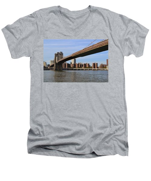 Brooklyn Bridge1 Men's V-Neck T-Shirt
