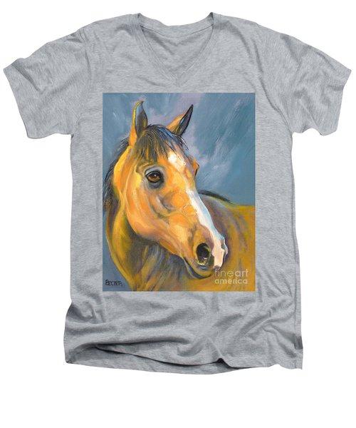 Buckskin Sport Horse Men's V-Neck T-Shirt