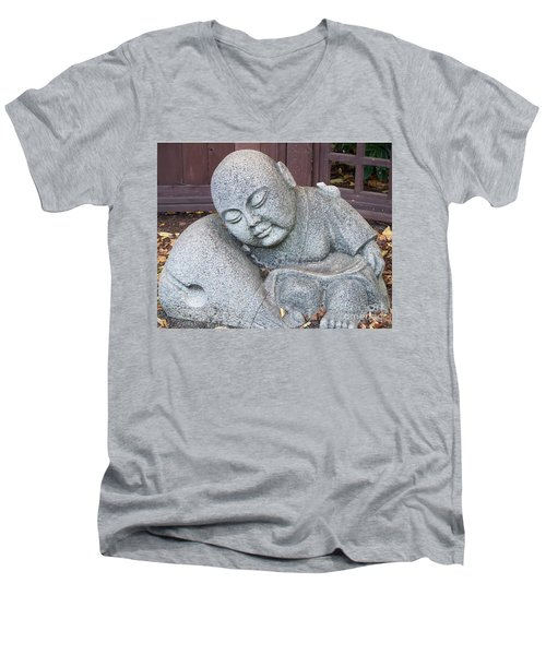 Buddha Men's V-Neck T-Shirt by Chalet Roome-Rigdon