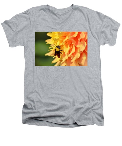 Bumblebee Men's V-Neck T-Shirt by Fotosas Photography